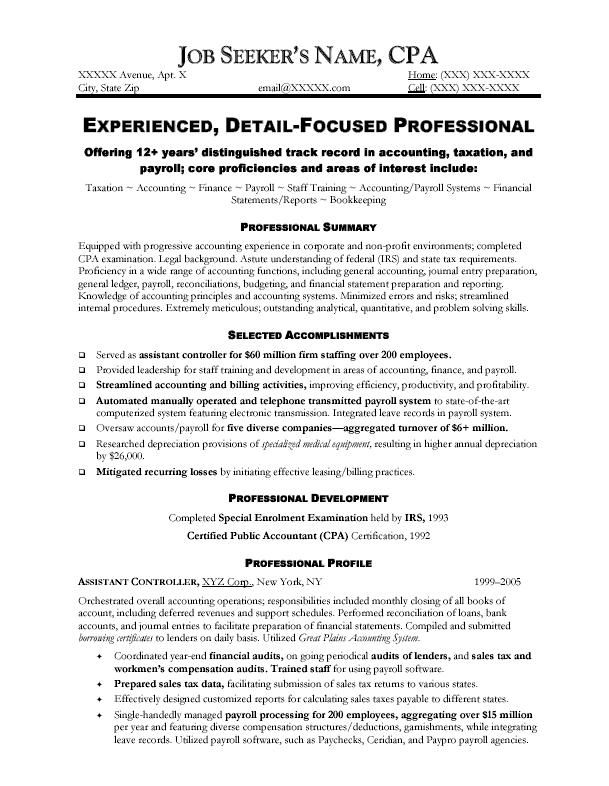 best resume format for accountant resume sample controller chief ...